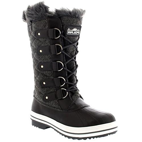 womens snow boot quilted tall winter snow