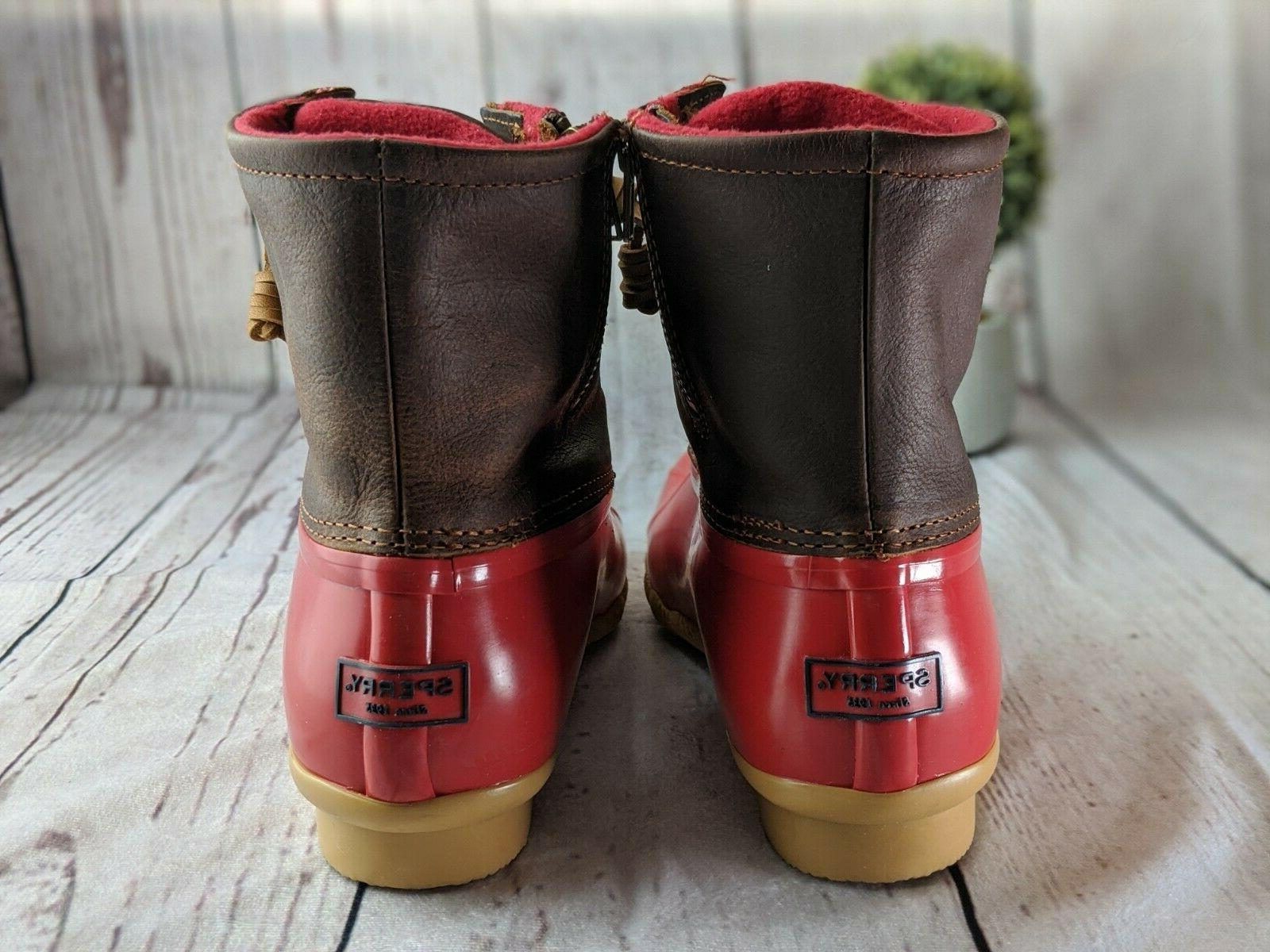 Womens Top-Sider Tan Boots Winter Work 9.5