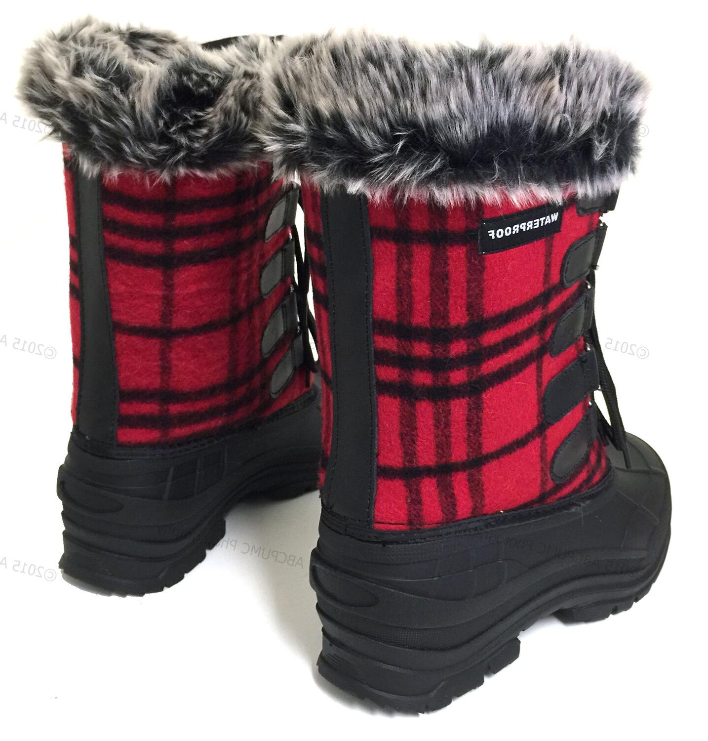 Womens Winter Plaid Waterproof
