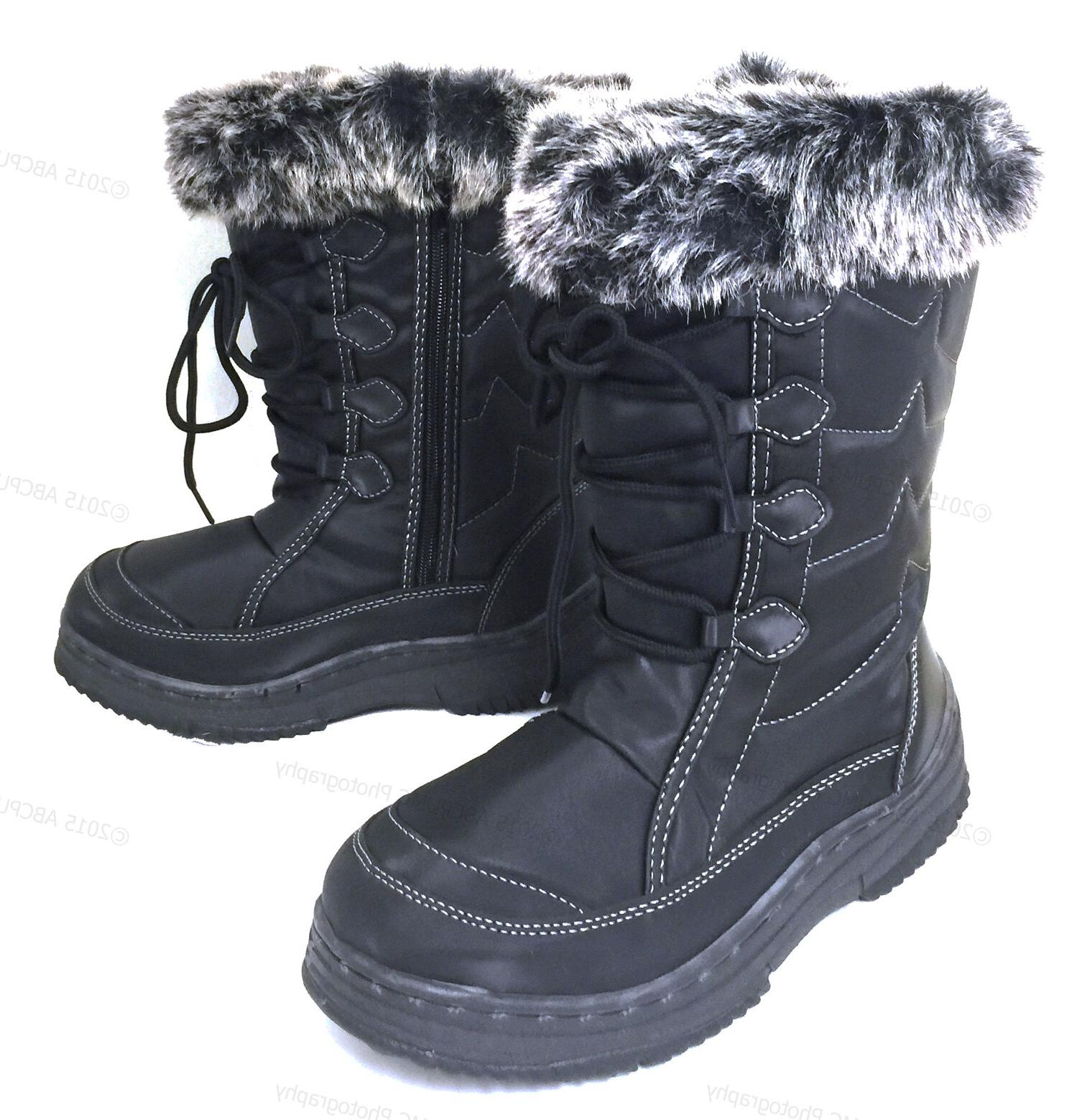 womens winter boots fur lined insulated water
