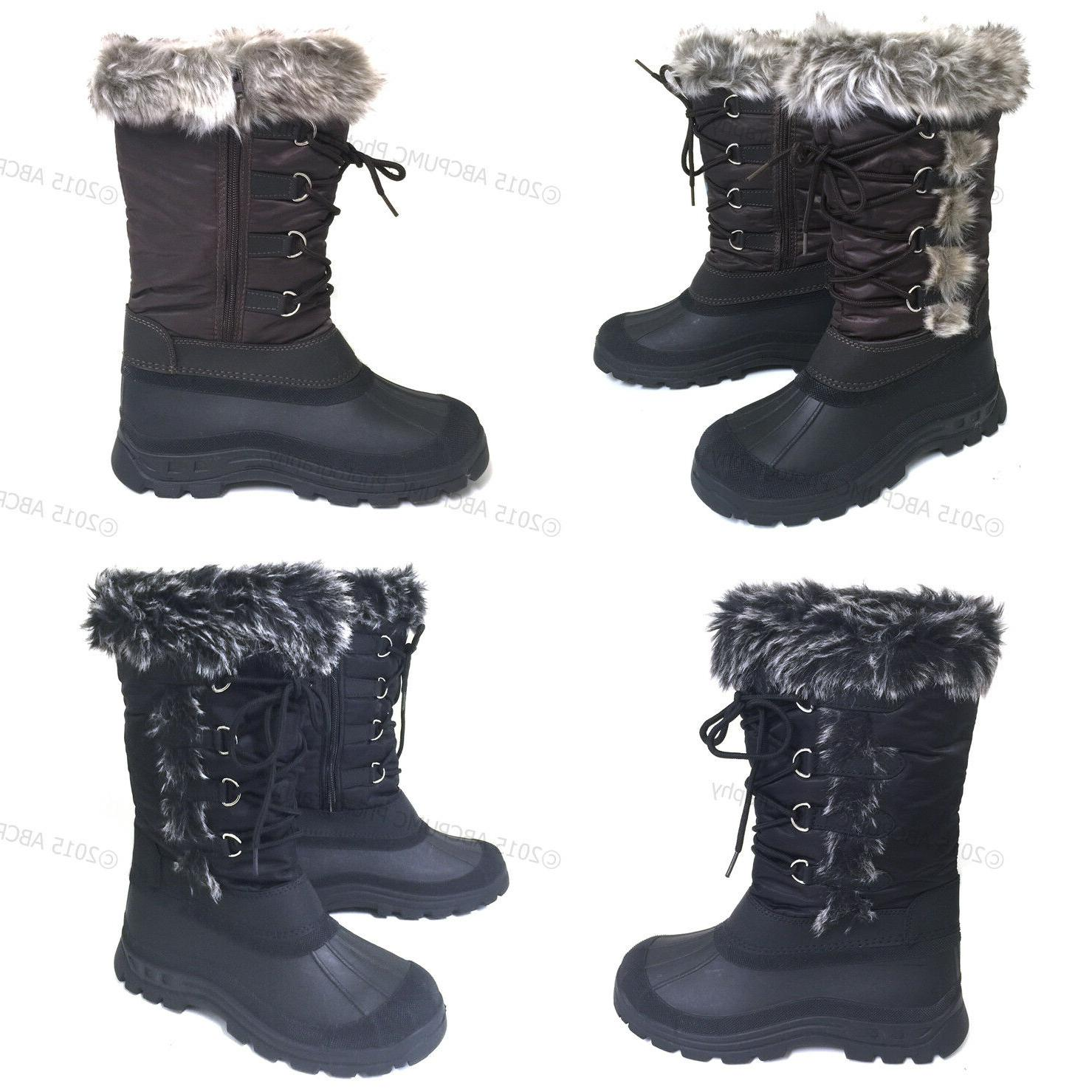 womens winter boots fur warm insulated waterproof