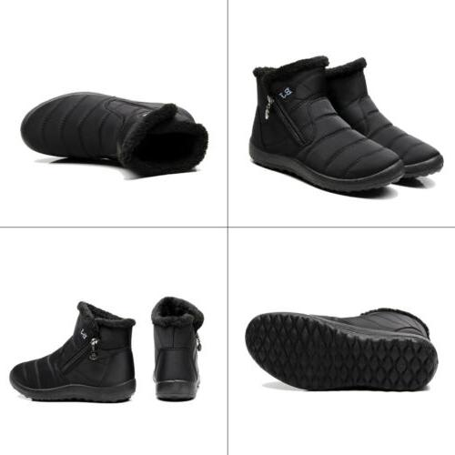 Womens Winter Snow Ankle Boots Outdoor Warm Shoes