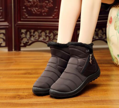 Womens Snow Boots Fur Outdoor Cozy Shoes