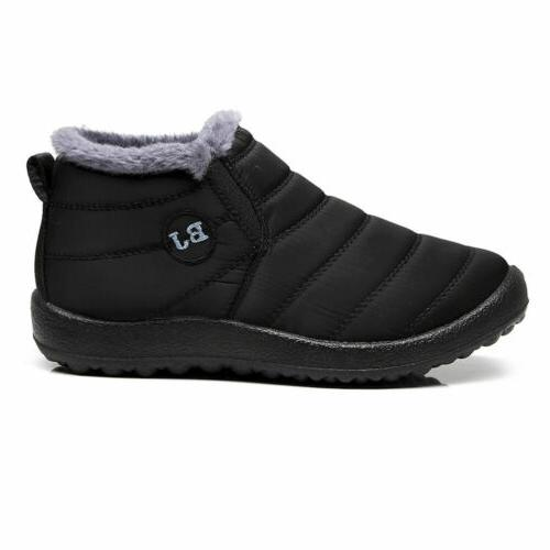 Winter Fur-lined Ankle Shoes US