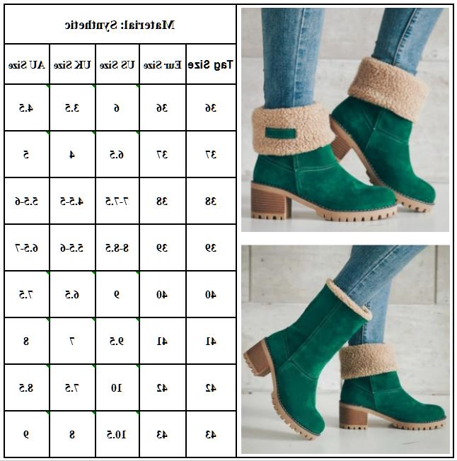 Womens Solid Buckle Short Boots Warm Fashion Size