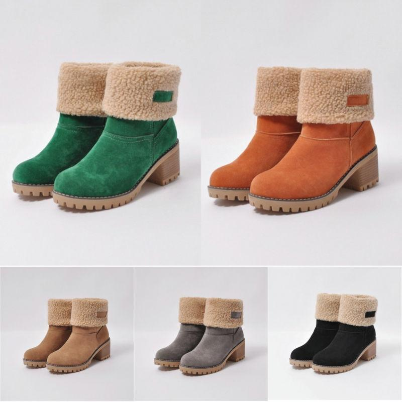 Womens Winter Buckle Short Warm Casual Fashion Shoes Size