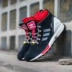 ADIDAS ZX FLUX WINTER BOOTS S82931 Men's Shoes Black/Red/Whi