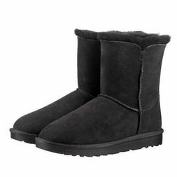 Kirkland Signature Ladies' Shearling Zipper Winter Boots Bla