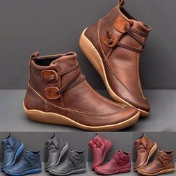 Leather Ankle Boots for Women Autumn Winter Cross Strips Vin