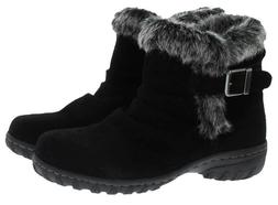 Khombu Lindsay Women's All Weather Black or Brown Suede Leat