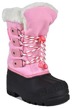 DREAM PAIRS Little Kid Maple Grey Pink Knee High Winter Snow