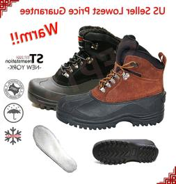LM Men's Insulated Winter Snow Boots Shoes Warm Lined Thermo