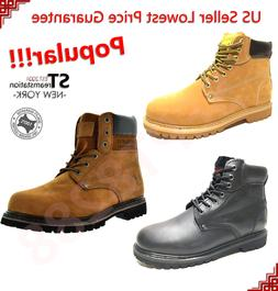 Men's 6'' Winter Snow Work Boots Shoes Water Resistant Rubbe