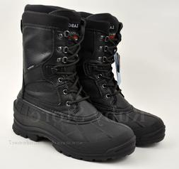"""LABO Men's Black 10"""" Leather Winter Snow Hunting Boots Shoes"""