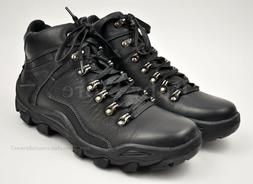 Men's Black Full Real Leather Upper Winter Snow Boots Shoes