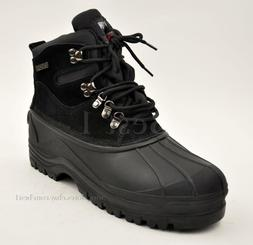 Men's KINGSHOW Black Winter Snow Boots Shoes Genuine Leather