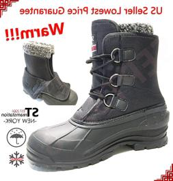 Men's Black Winter Snow Boots Shoes Warm Lined Thermolite Wa