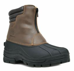 DREAM PAIRS Men's  Insulated Snow Boots Waterproof Cold-weat