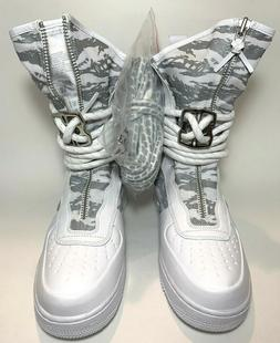Men's Nike SF AF1 Air Force 1 High Boots White Silver Winter