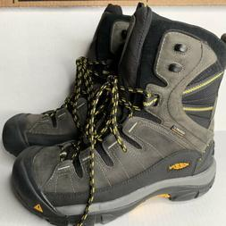 Keen Men's size 9.5 gray Insulated Winter Boots Summit Count