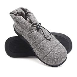 Hanes Men's Slipper Boot House Shoes with Indoor Outdoor Mem