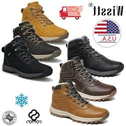 Men's Snow Boots Hiking Shoes Casual Waterproof Ankle Work B
