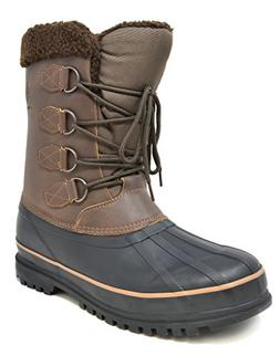 DREAM PAIRS Men's Terrain-2 Brown Insulated Waterproof Winte