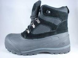 NORTHSIDE Tundra Men's Snow Boots Black Leather Waterproof I