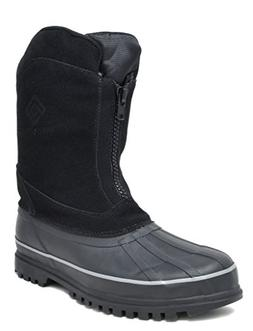 DREAM PAIRS Men's Viking-1 Black Insulated Waterproof Winter