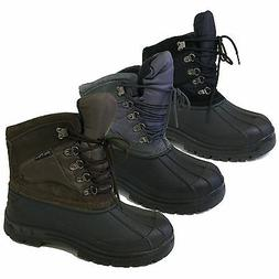 Men's Winter Boots Snow Leather & Nylon Waterproof Insulated