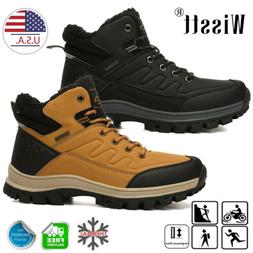 Men Snow Boots Hiking Shoes Casual Waterproof Ankle Shoes Wi