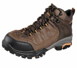 SKECHERS Mens Leather Mesh Waterproof Steel Toe Work Boots B