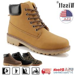Mens Leather Waterproof Boots Winter Snow Martin Work Boots