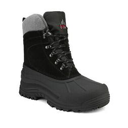 NORTIV 8 Mens Snow Boots Insulated Waterproof Rugged Winter