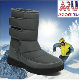 Mens winter Shoes High-Top Snow boots Outdoor Sneaker waterp