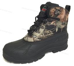 Mens Winter Snow Boots Camouflage Waterproof Insulated Hunti
