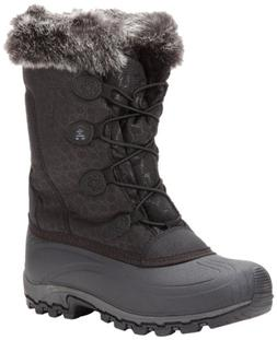 Kamik Women's Momentum Snow Boot,Black,10 M US