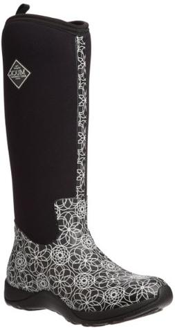 MuckBoots Women's Arctic Adventure Tall Snow Boot, Black/Swi