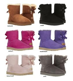 NEW Authentic UGG Women's Bailey Bow Winter Boots Shoes Blac
