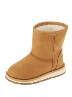 NEW GIRLS WONDER NATION FAUX SHEARLING LINED SLIP ON BROWN W