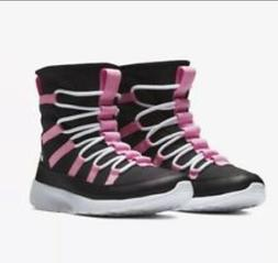 NEW Girl's Nike Venture Boots Faux Fur Kids Black Pink Win