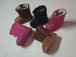 NEW WARM BABY GIRL TODDLER INFANT WINTER BOOTS SHOES WITH ZI