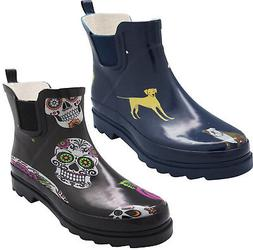 Norty New Women Low Ankle High Rain Boots Rubber Snow Rainbo