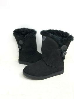 NEW! SO Women's Abigail Fur Lined Winter Fashion Boots Black