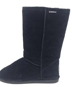 NEW! Bearpaw Women's Suede / Sheepskin Boots 115W Cloud Blac
