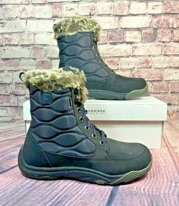 NIB SPERRY TOP SIDER WINTER COVE BLACK WINTER SNOW BOOTS SHO