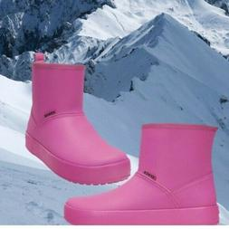 NWT CROCS Colorlite Women Winter Fur Lined Boots Wild Orchid
