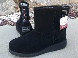 NWT! Skechers Keepsakes Wedge Women's 8.5 Black Suede Winter