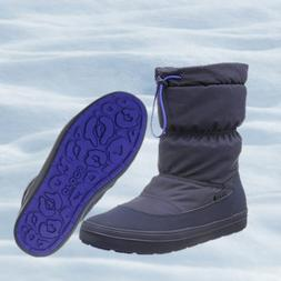 NWT CROCS Lodgepoint Women's Winter Pull-On Snow Boots Navy