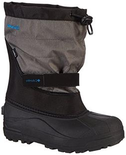 Columbia Youth Powderbug Plus Winter Boot, Black/Hyper Blue,